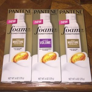 Bundle of 3 New Pantene Pro-V foam conditioner